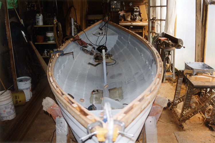 Boat being restored
